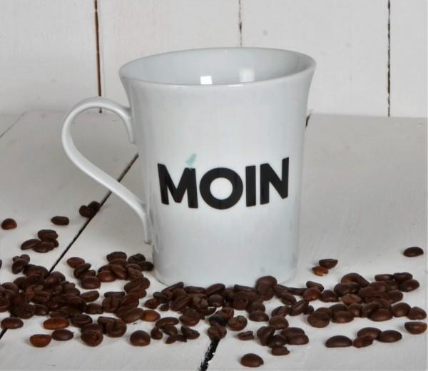 """Kaffeebecher mit Motiv """"Moin"""""""