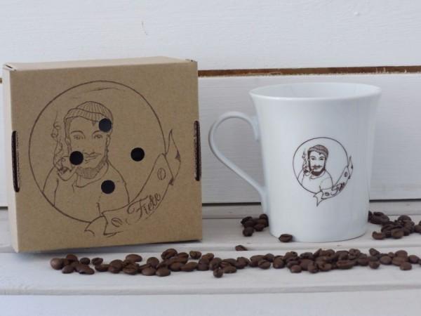 """Kaffeebecher mit Motiv """"Fiete"""""""